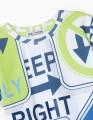 Купить яркую футболку с принтами для мальчика